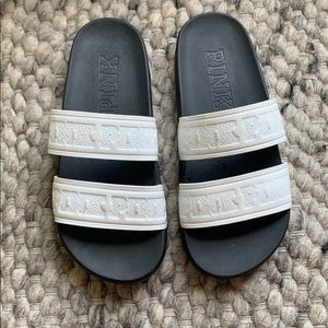 VS PINK slip on sandals Size 7